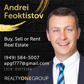 Andrei Feoktistov - Buy, Sell or Rent Real Estate - 949-584-5007 apgf777@gmail.com